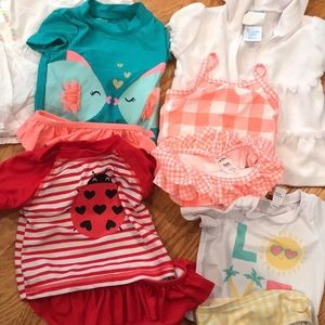Baby girl bathing suits